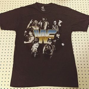 WWF Old School Wrestling Shirt, Size Large